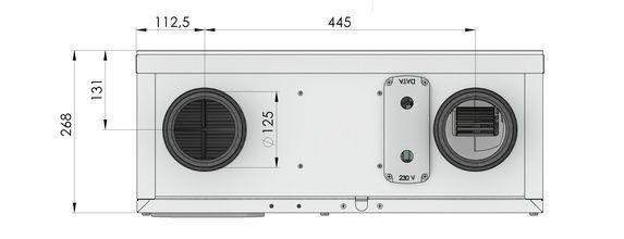 Rozmer 1 ComfoAir 160